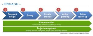 Organisation diagnostics and improvement process for Employee Engagement